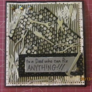 Father's Day Card Using Mr. Fix It Tools Die Set