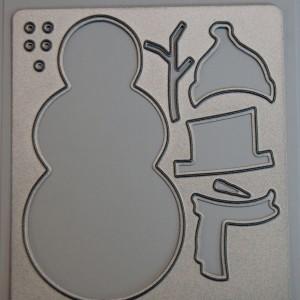 Diemond Dies Build A Snowman Die Set