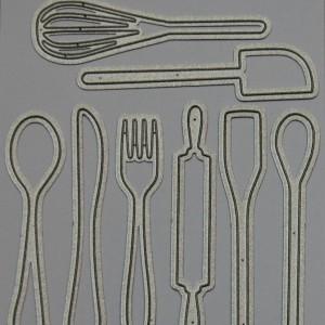 Diemond Dies Kitchen Utensils Die Set