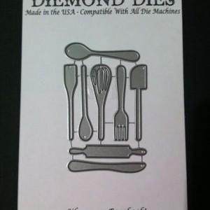 Diemond Dies Mini Kitchen Utensils Die Set
