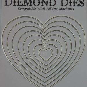 Diemond Dies Nesting Hearts Die Set