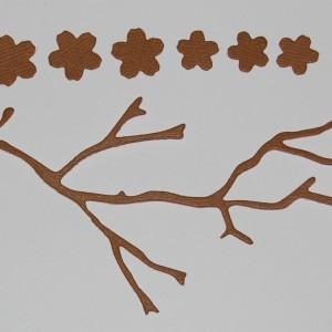 Diemond Dies Cherry Blossom Branch and Flowers