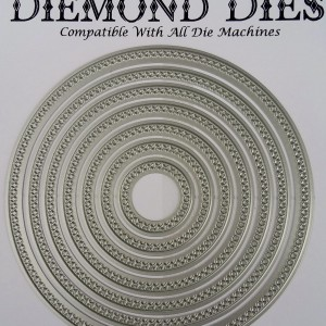 Diemond Dies Cross Stitched Circles Die Set