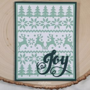 Card made by CraftyPaws using Diemond Dies Cozy Ugly Sweater Cover Plate Die and Holiday Words Die Set