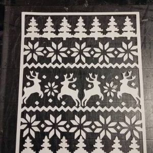 cozy ugly sweater cover plate die cut